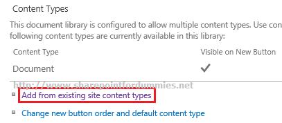 Existing Site Content