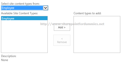 Existing Content Type