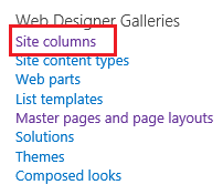 Site Columns in SharePoint 2013