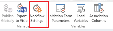 SharePoint Workflow Settings
