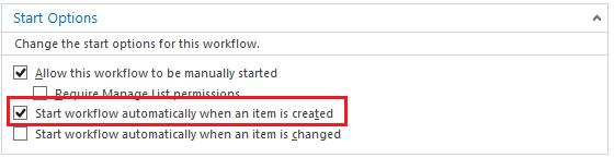 Start Workflow Automatically