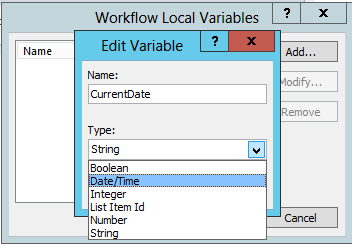 Current date as Local Variables