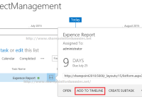 Adding Task to Timeline in SharePoint 2013