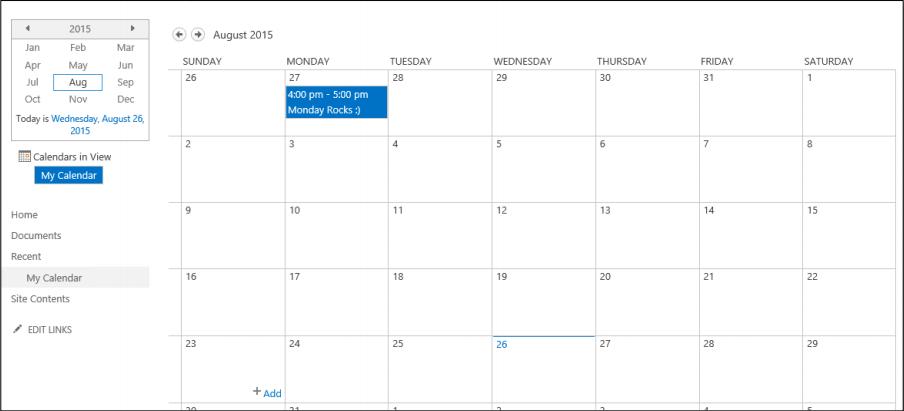 Aggregating Calendar