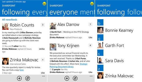 SharePoint drives Social Collaboration on Mobile Devices