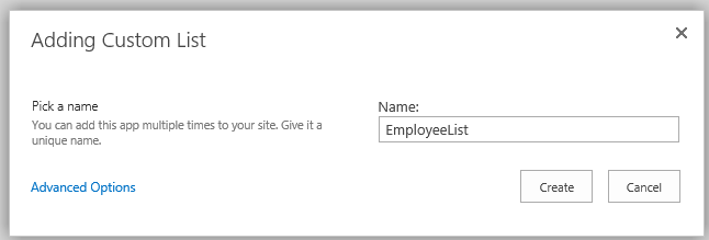 Adding Custom List in SharePoint 2013