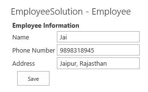Employee Info as Web Part