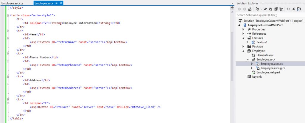 Visual Web Part